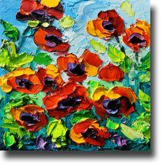 POPPY Painting Original Oil Painting   ART B. Sasik