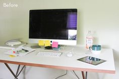 Before and After: How to Style and Organize your Desk in 6 Simple Steps » Curbly | DIY Design Community