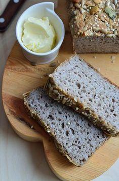 chleb gryczany bez mąki, chlebek z kaszy gryczanej, chleb bezglutenowy Banana Bread, Gluten Free, Breads, Brot, Glutenfree, Bread Rolls, Sin Gluten, Bread, Braided Pigtails