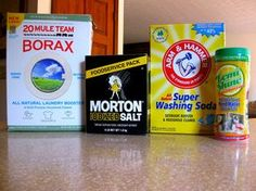 DIY dishwasher detergent. 1 c borax 1 c washing soda ½ c citric acid ½ c kosher salt (for scrubbing action) Use 1 Tbsp per load (you can use a heaping tablespoon if you feel the need, but we do not).  Each batch yields 24 ounces of detergent. We recommend storing in a container you were going to dispose