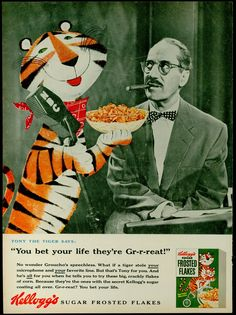 kellogg's frosted flakes ad. 1955.