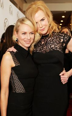 Naomi Watts & Nicole Kidman at the 2013 Producers Guild Awards held at @Beverly Hilton in Beverly Hills.