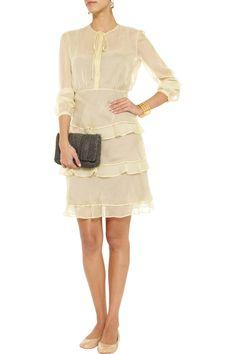 ValentinoTiered silk-chiffon dressfront