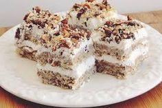 Imagini pentru tort cu nuca si mascarpone Romanian Desserts, Romanian Food, Romanian Recipes, Cookie Recipes, Dessert Recipes, Food Cakes, Sweet Desserts, Pavlova, Coco