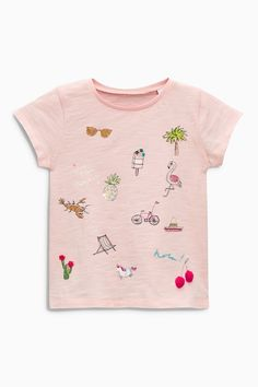 Buy Pink Embellished T-Shirt (3mths-6yrs) from the Next UK online shop
