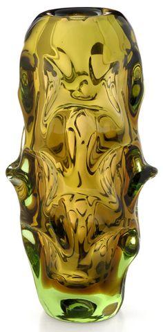 Skrdlovice Beranek Vase, Czech Glass