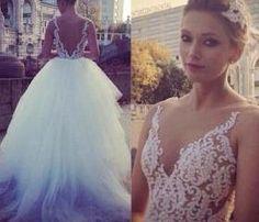 Wedding Dress, Pure White Wedding Dress, Princess Wedding Dress, Ball Gown Wedding Dress, Sheer Nude Wedding Dress, Tulle Bridal Gwons with Pearls