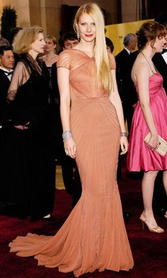 Gwyneth Paltrow Wearing A Nude Dress By Zac Posen At The 79th Annual Academy Awards, 2007