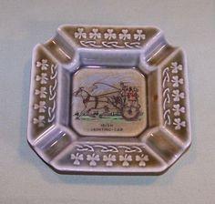 Vintage Ashtray - Irish Jaunting Car w/ Shamrocks Made in Ireland Wade Porcelain #vintagephilly
