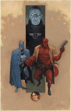 ArtVerso — Phil Noto - Batman and Hellboy