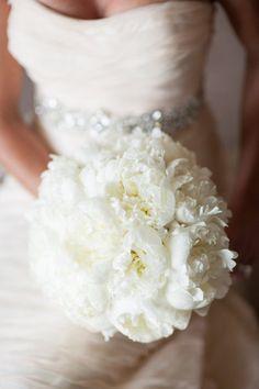 Pretty bouquet, and beautiful dress!