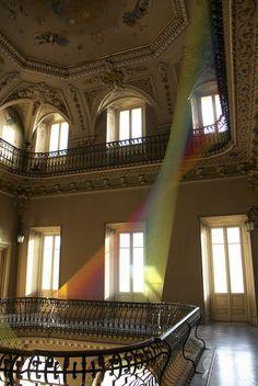 Plexus. no 19 colorful rainbow art installation by Gabriel Dawe