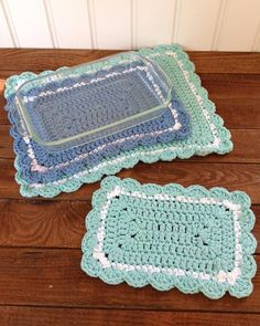"Watch Maggie's 20 Hot Pad Crochet Pattern Product Review! Original Designs By: Maggie Weldon Skill Level: Easy Sizes: (Sizes given are approximate) Square:15"", 12½"", 10½"", 10"", 9½"" Rectangular:17 X 13"