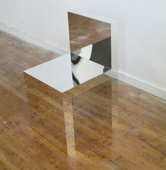 Visible/Invisible is a series of furniture pieces that appear to hover between emergence and disappearance. Created by Brooklyn-based designer Takeshi Miyakawa, the furniture is made from solid mirror-clad acrylic panels. Design Furniture, Unique Furniture, Chair Design, Cheap Furniture, Interior And Exterior, Interior Design, Mirrored Furniture, Take A Seat, Decoration