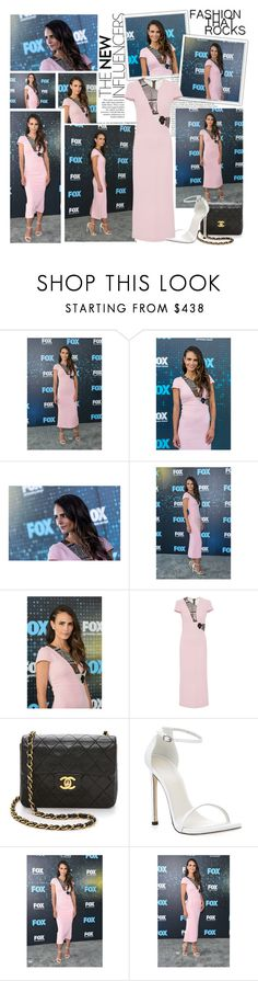 """""""2017 Fox Upfront Presentation~ Jordana Brewster"""" by snugget9530 ❤ liked on Polyvore featuring Oris, Roland Mouret, Chanel and Stuart Weitzman"""