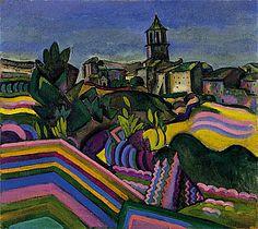 Joan Miro ~ Prades, the Village, 1917