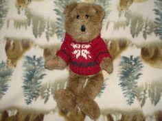 J B Bean Bear in Burgundy Snowflake Woolen Sweater