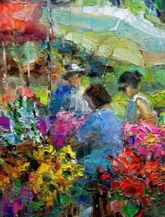 Farmers Market # 22, painting by artist Julie Ford Oliver