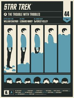 Olly Moss The Trouble with Tribbles Star Trek Poster on sale details New Star Trek, Star Wars, Star Trek Tos, Star Trek Enterprise, Star Trek Voyager, Spock, Affiche Star Trek, Omg Posters, Movie Posters