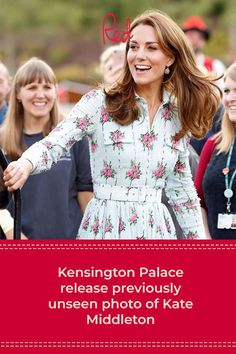 Just when you thought you'd seen every photo on earth of Kate Middleton, Kensington palace release a previously unseen picture of the Duchess of Cambridge Kate Middleton Pictures, Kate Middleton Style, Midi Shirt Dress, Long Sleeve Midi Dress, Tea Dresses, Blue Peter, Zara Mini, Winter Dresses, 70s Fashion