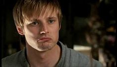 Bradley James. Arthur Pendragon from Merlin. Aawww, I can't say no to that pouty face. :(