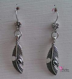 """Orecchini pendenti in argento tibetano """"Piuma"""", by Roxy Bijoux, 6,50 € su misshobby.com"""