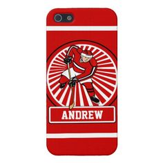 Personalized Ice Hockey Player iPhone SE/5/5s Case