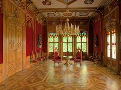 Inside the Oscarshall castle in Oslo