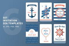 Wedding invitation Sea Templates by Fay_Francevna on Creative Market