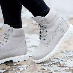 The Footasylum Exclusive Womens Timberland 6 Inch Premium Boot in Light Grey. - Women's Shoes - http://amzn.to/2gEzA3h