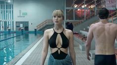 """Jennifer Lawrence is a deadly seductress in Fox's first teaser trailer for spy thriller """"Red Sparrow."""" The footage, unveiled Thursday, shows her in a brunette wig and a low-cut re…"""