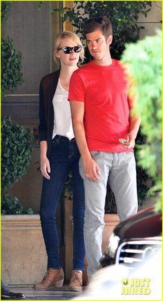 Emma Stone & Andrew Garfield: Sunset Tower Twosome!