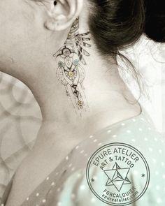 Ear jewel L #eartattoo #finelinetattoo #marieroura #epureatelier #tattoo #inked