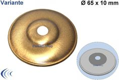 Rosette flämisch Abschluss-Scheibe 65mm x 10mm Messing plättiert ML10,5mm Zierscheibe in Fume' Lackiert Art. Nr B34140