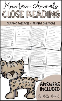 FREE! Need no-prep close reading resources? Printable and digital Google Slides versions included! This pack contains five non-fiction original reading passages based on five mountain animals. Alongside each reading passage are questions to develop student comprehension, understanding and information retrieval. Also included are five answer sheets, one for each passage and set of questions. Get them today! #closereading #mountainanimals #noprep #googleclassroom
