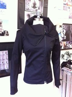 On Sale Amazing Asymmetrical Jacket in Black by elikadesigns