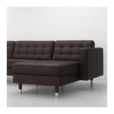 LANDSKRONA 3 personers sofa og chaiselong - metal, Grann/Bomstad mørkebrun - IKEA