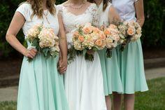 Bridal party portraits: bridesmaid, bridesmaid bouquets   BURTco Studios #ahorneradventure #wedding