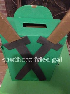 BBC's teacher asked her class to create Valentine boxes instead of using paper sacks this year. A project with the boy is always fun. Of course BBC wanted a Green Ninja (from the Lego Ninjago series) themed box. He was very specific about the uniform he wanted for the box. DH suggested we just pick Continue Reading