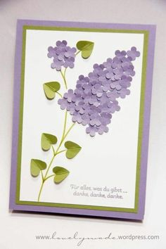 Mother 's Day or Lilac Lilac Pop Up Cards, Cute Cards, Diy Cards, Flower Cards, Paper Flowers, Spring Crafts For Kids, Mothers Day Crafts, Handmade Birthday Cards, Creative Cards