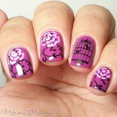 Nailpolis Museum of Nail Art | purple romantic by Moni'sMani