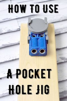 Woodworking Jigs Learn all about the pocket hole jig - otherwise known as a Kreg Jig! Use this tool to make your woodworking strong and tight with (almost) invisible screws. Its easy enough for even a novice woodworker to use! via DIY Candy