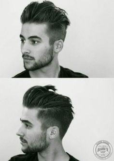 Men's Hairstyles & Haircuts in 2019 - Pictures of Hairstyles for Men Undercut Hairstyles, Hairstyles Haircuts, Haircuts For Men, Mens Undercut Hairstyle, Pompadour Hairstyle, Undercut Men, Hair And Beard Styles, Short Hair Styles, Mens Modern Hairstyles
