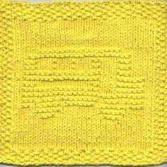 School Bus Knit Dishcloth Pattern