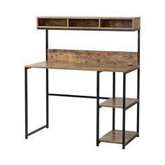 Ideas reclaimed wood desk top shelves for 2019 Steel Furniture, Diy Furniture, Furniture Design, Furniture Stores, Furniture Dolly, Diy Wood Desk, Diy Desk, Bookshelf Desk, Desk Hutch