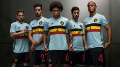 The new Belgium Euro 2016 Away Kit boasts a spectacular design, which draws inspiration from Belgium's iconic cycling shirts.