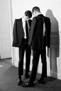 Adrien Sahores & Guerrino Santulliana M.VIO 2012 F/W AD Campaign behind the scene \ Paris + Model Look Fashion, Mens Fashion, Fashion Design, Luxury Fashion, Paris Model, Foto Art, Gay Couple, Photo Reference, Looks Cool