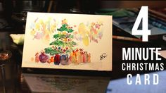 Painting a Mini Christmas Card