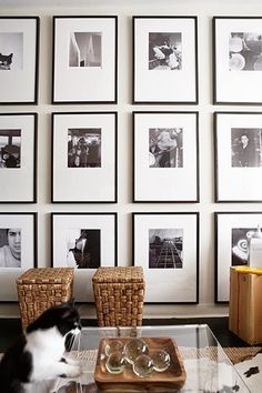 Gallery Wall black and white photography for the Master