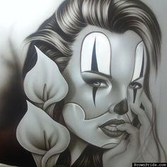 Imagenes Payasos Tristes Dibujos On Log Wall
